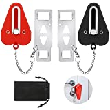 Taotazon Portable Door Lock for Travel and Home Safety, 2 Pack Hotel Door Lock, Door Locker from Inside, Travel Lockdown Lock for Additional Safety and Privacy