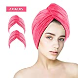 MASBRILL Microfibre Hair Towel Wrap, 2 Pack Anti Frizz Hair Drying Towel with...