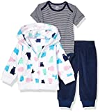 Amazon Essentials 3-Piece Microfleece Hoodie Set Fashion, Gato, 24 Meses