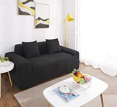 WXQY Funda de sofá Impermeable para Sala de Estar, Funda de sofá de Felpa Gruesa General, Funda de sofá de Color sólido Todo Incluido elástica A1 3 plazas