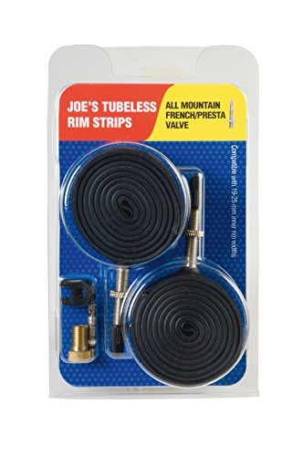 Joe's Flats Kit Convertidor A Rueda Tubeless, Unisex Adulto, Negro, 19-25 mm
