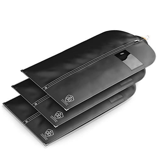 5 x Kleidersack Anzug - Kleidersäcke Halten EIN Leben Lang | 120 x 60 cm | Kleidersack Lang für Kurze Kleider - BIS ZU 56% Dickeres Material (125 GSM) | Atmungsaktiv & Wasserdicht | Reise Schutzhülle