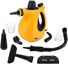 Kgihope, Blue Handheld Pressurized, with 9-Piece Accessory Set Purpose and Multi-Surface All Natural, Steam Cleaner for Home, Kitchen, Auto, Patio