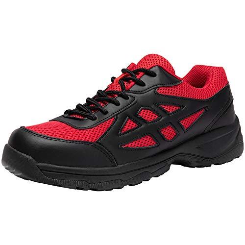[JOYWAY] 安全靴 作業靴 メンズ レディース 鋼先芯 鋼製ミッドソール スニーカー ワークシューズ セーフティーシューズ 耐滑 つま先保護 軽量 通気 衝撃吸収 男女兼用