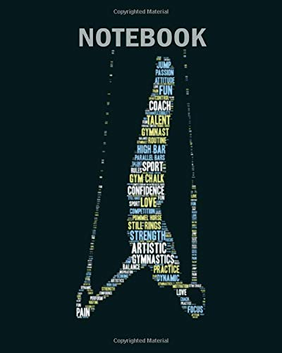Notebook: artistic trapeze gymnastics text figure - 50 sheets, 100 pages - 8 x 10 inches