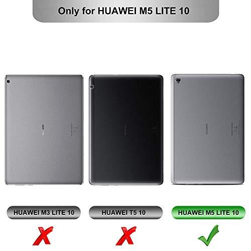 IVSO Hintergrundbeleuchtete Tastatur Hülle für Huawei MediaPad M5 Lite 10, [QWERTZ Deutsches], Ständer Schutzhülle mit magnetisch abnehmbar Tastatur für Huawei MediaPad M5 Lite 10.1 Zoll 2018, Oil - 2