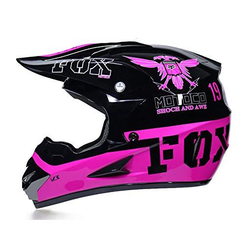 Casco De Motocross, Casco De Motocross para Niños, Casco De Motocross para Adultos Pequeño con Gafas/Guantes/Protector Facial, Casco De Motocross para Exteriores,XL