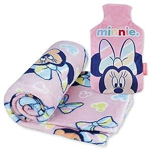 Manta Polar y Bolsa de Agua Caliente, Pack de Minnie Mouse – Manta Infantil Súper Suave y Botella de Agua Caliente para el Frío con Diseño Oficial de Minnie Mouse | Regalos Originales para Niñas