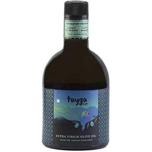TAYGA | Natives Olivenöl Extra / 0,19 Säuregehalt (Ernte 2019) | 500 ml | Frühe Ernte & kalte Extraktion , aus Memecik - Oliven der ägäischen Hochlande - vom Wald leistet - 10% PREISNACHLASS