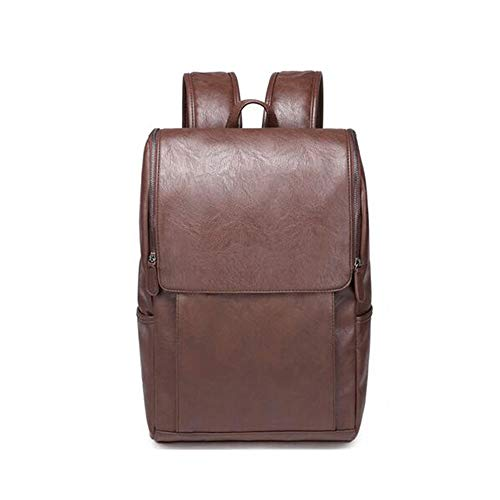 CLCCYYSJD Men's Outdoor Leisure Travel Backpack, British Style Student Bag Computer Bag, The Trend of The New Korean Version of The Backpack (Color : Brown)