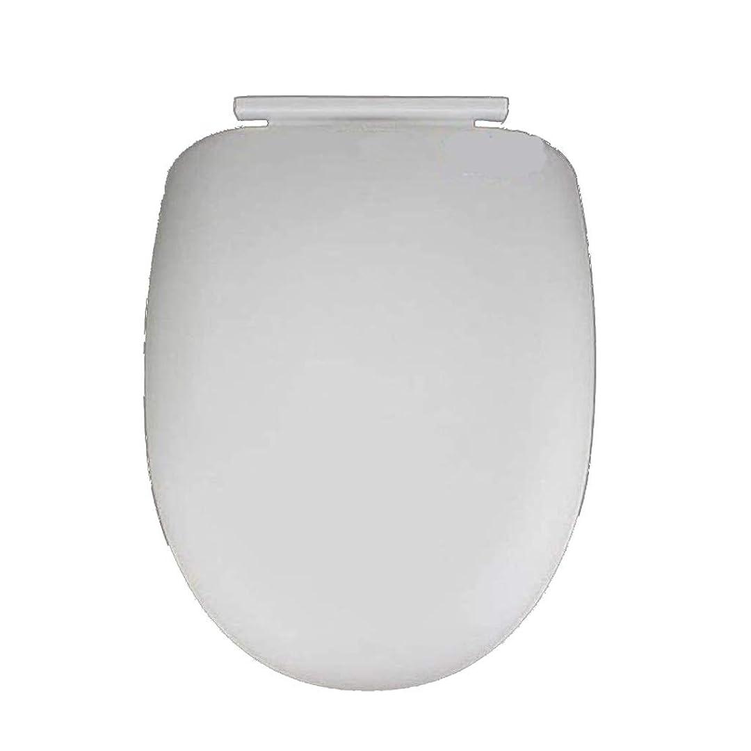 ほこりステージ収入IAIZI クイックリリース肥厚底部と便座互換性の便座はUはウルトラ耐性トイレのふた、ホワイト-41 * 34センチメートル形状マウント