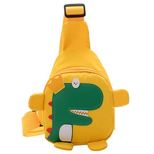 Xuebai Niños honda pecho bolso lindo dinosaurio Crossbody bolso nylon hombro casual mochilas para niños