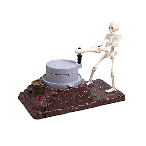 JINSANSHUN Neumodisch Weihnachtsgeschenke Kreative Schädel Skelett Sparschwein Kinder Spardose Münzen Sprechende Geld Munzen Sparbüchse mit Schalter und Bunte Lichter