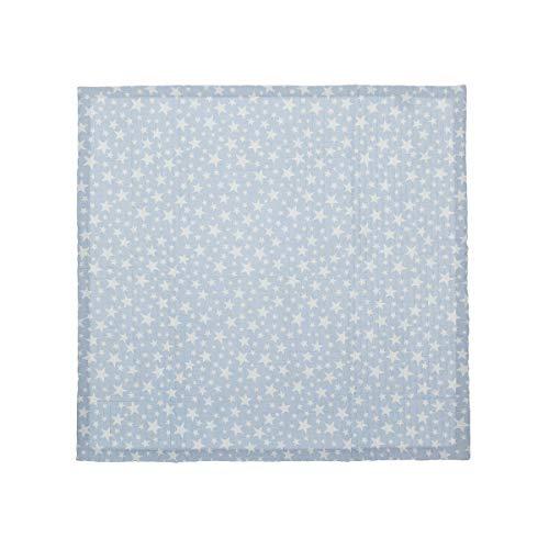 Cambrass Boutí Star - Colcha minicuna, 80 x 80 cm, color celeste