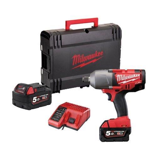 Preisvergleich Produktbild Milwaukee M18 CHIWF34 - 502X Brushless 18V 3 / 4' Akku Schlagschrauber mit 2x 5 Ah Akku,  Ladegerät,  Koffer