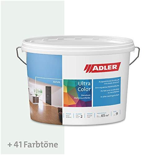 ADLER Ultra-Color Wandfarbe - Volltonfarbe und Abtönfarbe in 100+ Farbtönen - Kristall C12 172/2 Weiß 1 l Atmungsaktiv, Hochdeckend, Lösungsmittelfrei