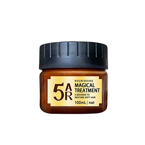 Dinglong Masque Capillaire,Hair Mask, Masque Cheveux secs et abimés,Cheveux Detoxifying Hair Mask Advanced Molecular Roots Treatmen Récupérer L'élasticité Cheveux 100ML