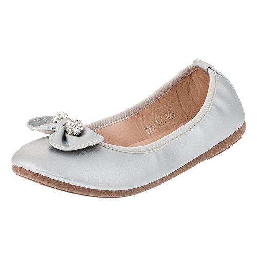Bo aime Festliche Kinder Mädchen Ballerinas Schuhe in vielen Farben für Partys und Freizeit M287si...