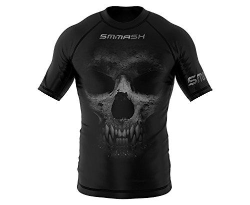 SMMASH Reaper Rashguard Kurzarm Herren, Kampfsport Funktionsshirt Herren Atmungsaktiv und Leicht, Sportoberteile für MMA, Krav MAGA, BJJ, K1, Slim Fit, Hergestellt in der EU (M)