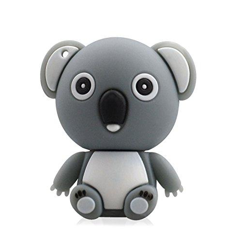 818-Shop No50300050008 Hi-Speed 2.0 USB-Sticks 8GB Lustiger Koalabär 3D grau
