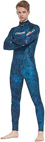 Cressi Summer Man Wetsuit 2.5 mm Traje de Buceo sin Capucha en Neopreno Biforrado, Hombre, Camuflaje Azul, S