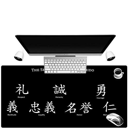 HonGHUAHUI Caracter Muismat van rubber met zwarte achtergrond, kunst, voor gamer, computer, laptop, groot formaat, mat 400X900X4MM A04