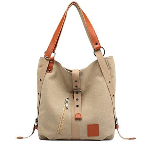 Handtaschen für Frauen, Vintage Zwei-Wege-Canvas-Einkaufstasche Multifunktions-Handtasche mit großer Kapazität für die Reise (geeignet für Laptop, Regenschirm, Handtücher und andere Kleinigkeiten)
