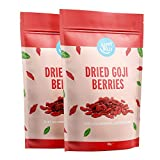 Marca Amazon - Happy Belly Bayas de goji deshidratadas, 2 x 500g