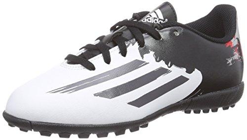 adidas Herren Messi 10.4 TF Fußballschuhe, Weiß (FTWR White/Granite/Scarlet), 38