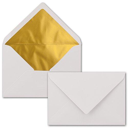 25 St/ück Quadratische Brief-Umschl/äge ohne Fenster in Transparent Wei/ß F/ür Hochzeits-Karten 15 x 15 cm Serie FarbenFroh/® Nassklebung Einladungskarten und mehr