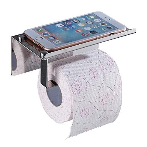 Aothpher Toilettenpapierhalter ohne Bohren, Patentierter Kleber + Selbstklebender 3M-Kleber, Edelstahl, Chrom Finish