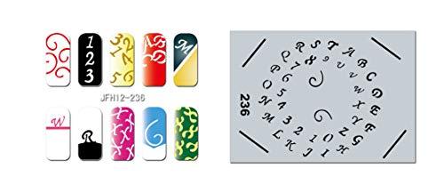 Pochoir nail art Aérographe JFH012-236