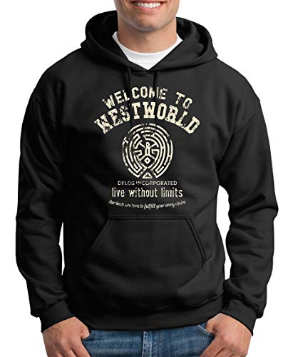 TShirt-People Welcome to Westworld Kapuzenpullover Herren XL Schwarz