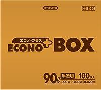 【ゴミ袋】【日本サニパック】業務用ポリ袋 90L E-94 半透明 0.020mm 100枚×4箱