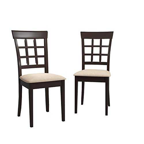 Gabriel Wheat Back Side Chairs Cappuccino and Beige (Set of 2)
