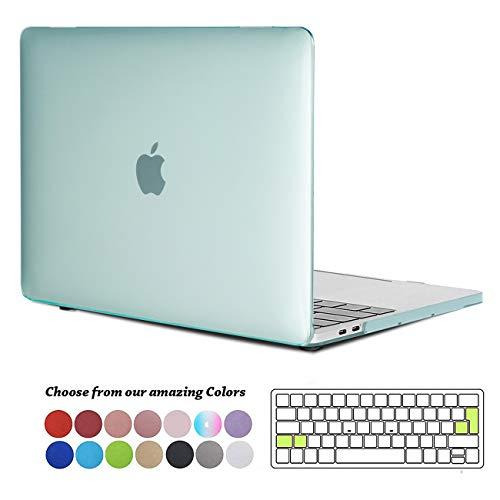 TECOOL Funda para MacBook Pro 15 2016 2017 2018 2019, Cubierta Plástico Dura Case Carcasa & Tapa del Teclado para MacBook Pro 15 Pulgadas con Touch Bar & Touch ID Modelo: A1707 A1990 - Cristal Verde