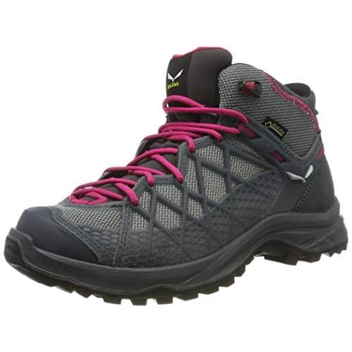 SALEWA WS Wild Hiker Mid Gore-Tex, Stivali da Escursionismo Alti Donna, Becks Grisaille, 36 EU