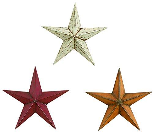 Deco 79 75631 Metal Stars S/3 12H