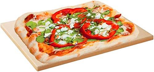 Piedra rectangular para pizza, piedra para pizza de cordierita para horno y barbacoa, apto para hornear pan, galletas, paleta de pizza de estilo italiano