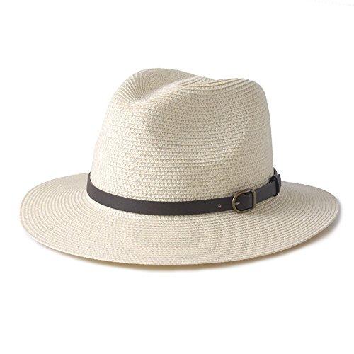 WYYY Chapeau Dame Grand Quai Wai Chapeau De Soleil Pliable Chapeau De PU avec par Le Travers Protection Contre Le Soleil