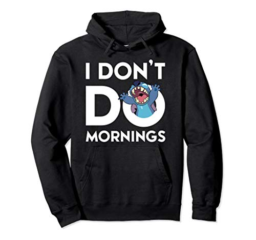 Disney Stitch Don't Do Mornings Pullover Hoodie