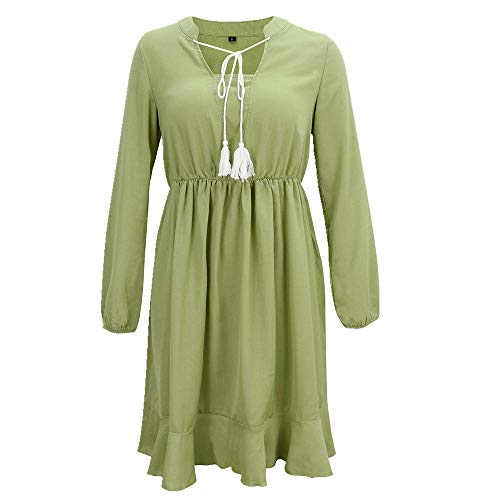 N\P Vestido casual y cómodo con cordones para mujer en primavera y verano