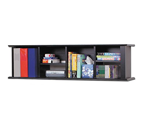 Prepac Black Wall Mounted Desk Hutch