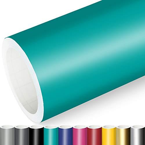 Actinium® Klebefolie 7€/m² Türkis Matt | 5m x 0,63m selbstklebende matte Folie | Möbelfolie selbstklebend Küchenfolie Plotterfolie
