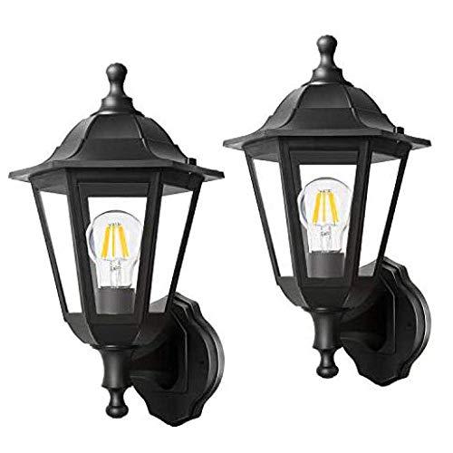 HXCD Lámparas de Pared para Porche, Paquete de 2 linternas de Pared...