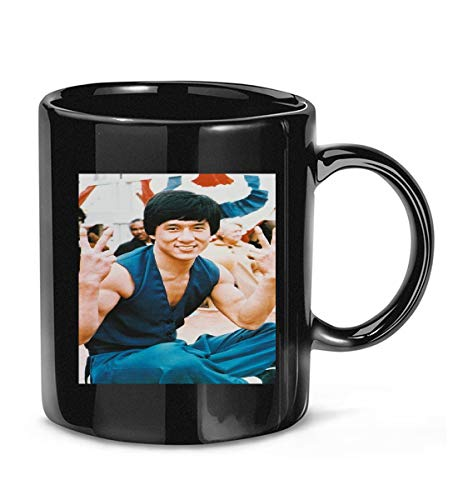 Hunter gift #Jackie #Chan #Cool #Pose #Doing Victory/Peace Sign Coffee Mug for Women and Men Tea Cups