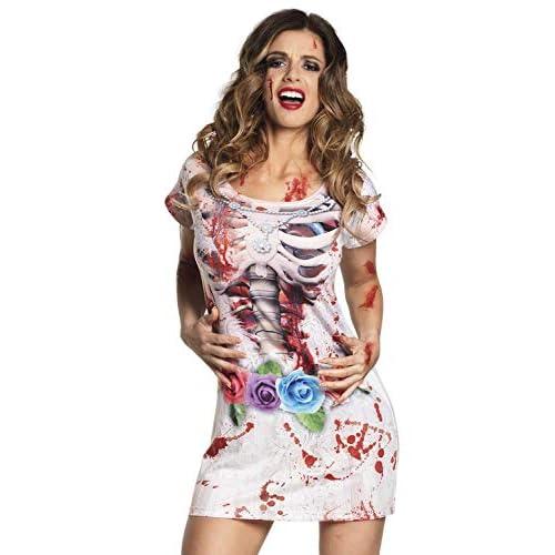 Boland 84326 Abito Fotorealistico Horror Braut, Multicolore, S