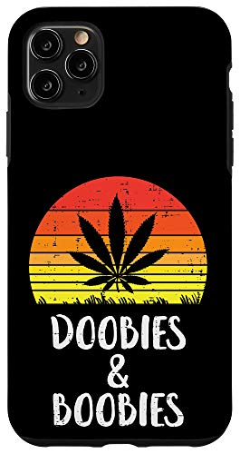 iPhone 11 Pro Max Doobies And Boobies Retro Weed Cannabis 420 Stoner Men Gift Case