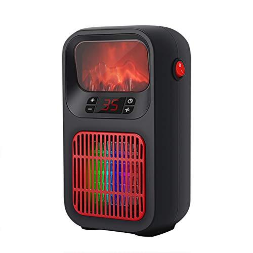Yumira Minicalefactor eléctrico de simulación 3D, calefacción de llama, calefacción de invierno,...