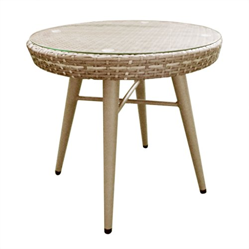 INK+IVY Solid Avery-Outdoor End Table, 24.5' x 21.25'